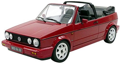 Norev modellino auto volkswagen golf 1cabriolet classic line 1992scala 1/18, 188405, rosso