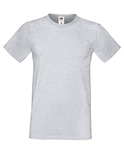 Fruit Of The Loom 61412 Mens Short Sleeve Softspun T-Shirt Tee Heather Grey