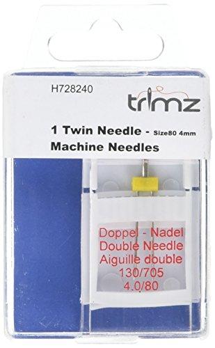 TSL Plat Tige Double Aiguille, Argent, 4 mm