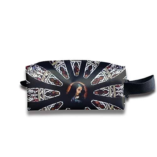 Notre Dame De Paris Druck Jacquard Woven 2 Tragbare Reise Make-up Kosmetiktaschen Organizer Multifunktions Tasche Taschen für Unisex -