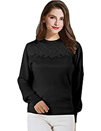 Sweet Mommy New Maternity and Nursing 100% Organic Cotton Lacy Sweater Top