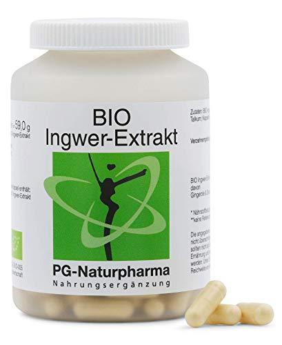 Zenzero capsule BIO (vegano), 160 capsule da 300 mg estratto di zenzero di alta qualità proveniente dalla Francia (almeno il 90%), con almeno 3,5% gingeroli e shogaole - fatto in Germania (DE-ÖKO-005)