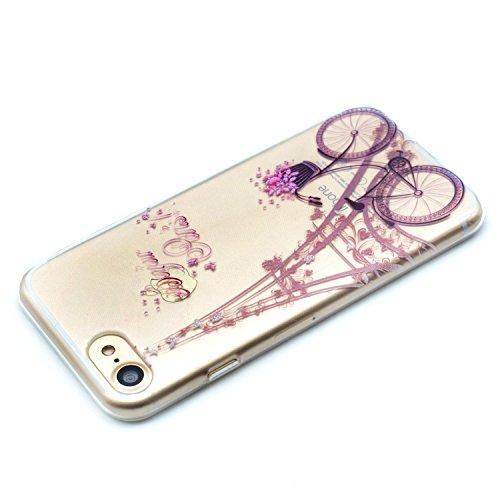 Coque iPhone 6 Plus,Étui iPhone 6S Plus,iPhone 6 Plus/iPhone 6S Plus Case,ikasus® Coque iPhone 6 Plus/iPhone 6S Plus Silicone Étui Housse Téléphone Couverture TPU avec Torre modèle de vélo Ultra Mince Torre modèle de vélo