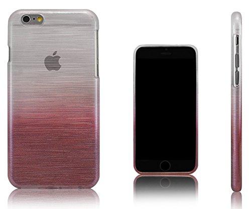 Xcessor Transition Farbe Flexible TPU Case Schutzhülle für Apple iPhone 6. Mit Gradient Silk Gewinde Textur. Transparent / Grau Transition / Rosa