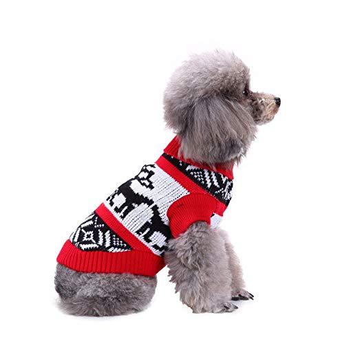 CHIYEEE Weihnachtspullover für Hunde und Katzen Weihnachten Hundepullover -