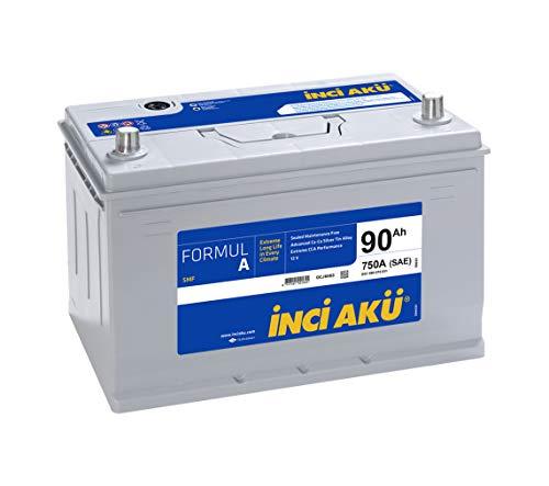 INCI AKU Batteria Originale Auto GS YUASA 90AH 750A (EN) POLARITA' Sinistra (306X175X224)
