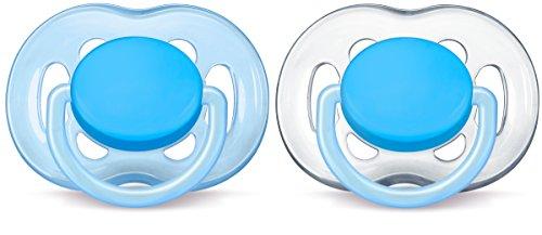 Philips AVENT SCF178/27 Beruhigungssauger Freeflow, 6-18 Monate für Jungs