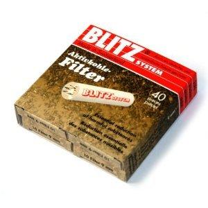 40 filters x 9mm Charcoal Pipe Filter BLITZ von Blitz