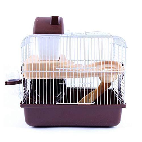 WXH Hamster Cage Portable Carrier für Kleintiere Schlosskiste mit ausziehbarem Tablett, in dem sichere Materialien untergebracht sind