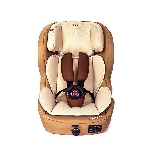 Kinderkraft Safetyfix Kinderautositz mit Isofix 9-36 kg Gruppe 1 2 3 Beige