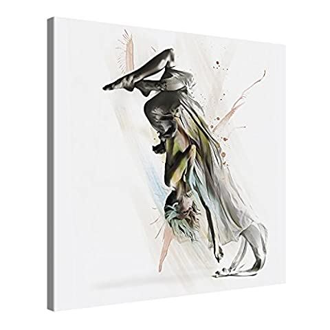Canvas Print Wall Art – DANCER 2 – 80x80cm Stretched Canvas Framed On A Wooden Frame – Contemporary Art Canvas Printing – Hanging Wall Deco Picture By Gallery Of Innovative Art