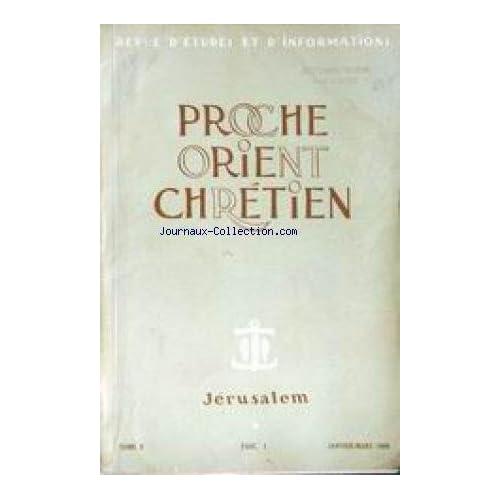 PROCHE ORIENT CHRETIEN [No 1] du 01/01/1960 - JERUSALEM