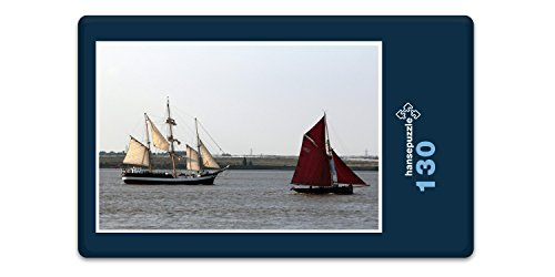 hansepuzzle 41074 Reisen - Segelboote, 130 Teile in hochwertiger Kartonbox, Puzzle-Teile in wiederverschliessbarem Beutel