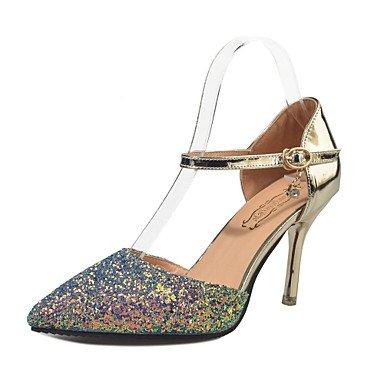Talloni delle donne Primavera Estate Scarpe formali ComfortParty & amp;Abito da sera con paillettes tacco a spillo scarpe tacco oro / argento / bianco US7.5 / EU38 / UK5.5 / CN38