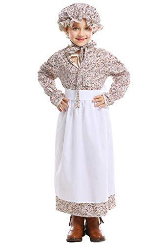ionier Colonial Bauer Kostüm, Viktorianische Maid Kostüm Märchen Prinzessin Kostüm viktorianischen Prärie Kleid XL ()
