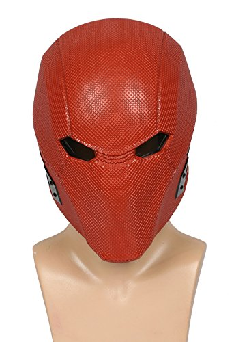 Xcoser Halloween Rot Maskr Harz Helm Spiel Cosplay Kostüm Zubehör für Erwachsene Kleidung Verrücktes Kleid