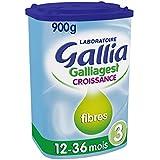Laboratoire Gallia Galliagest - Lait bébé Croissance en poudre de 12 mois à 3 ans 900 g - Lot de 3