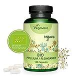 PSILLIO BIO Vegavero® | 3000 mg: dose giornaliera | Bucce di Semi | Regolarità e Transito Intestinale | 180 Capsule | Vegan