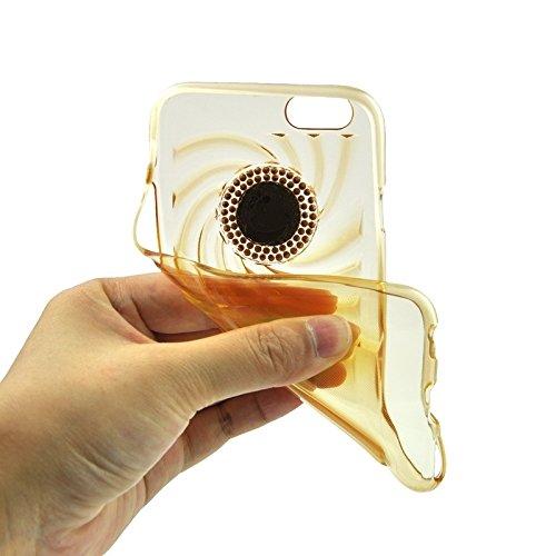 wkae Schutzhülle Case & Cover Modische Ultrathin Diamant Encrusted TPU Schutzhülle für iPhone 6& 6S Gold