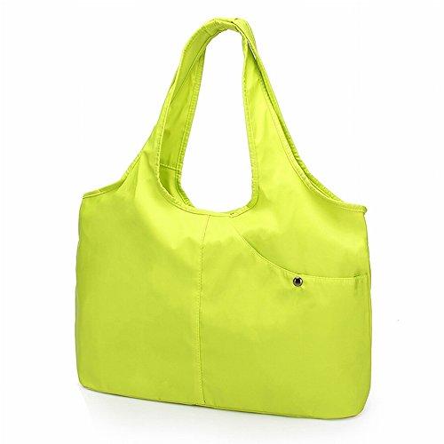 Beiläufige Reine Farbe Multi-Tasche Tasche Mode Hand Hält Regenschirm Tasche Umhängetasche Mutter Tanz Tasche Wasserdichte Handtasche , Ying grün
