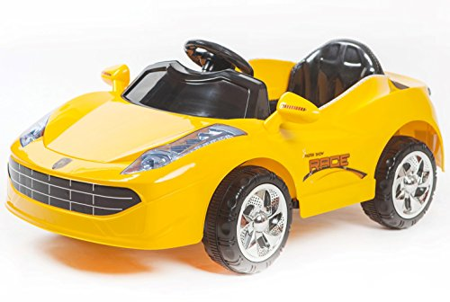 Toyhouse Battery Operated Sporty Car Ride On for 2 to 5 Years Kids, Yellow