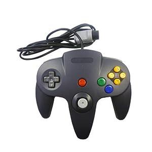 Eaxus®️ N64 Controller – Gamepad für Nintendo 64, Schwarz