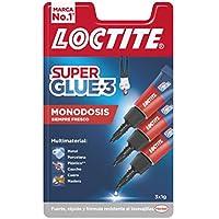 Loctite Super Glue-3 Original Mini Trio, pegamento universal con triple resistencia, adhesivo transparente, pegamento instantáneo y fuerza instantánea, 3x1 g