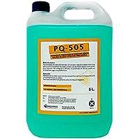 Detergente perfumado concentrado de caracter básico soluble en agua apto para fregadoras. 5 litros.