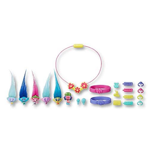 Trolls DreamWorks Tiny Dancers Greatest Hits, 6 Sammelfiguren, Halskette, 2 Armbänder und mehr