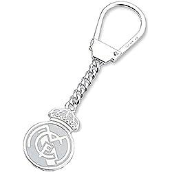Llavero escudo Real Madrid Plata de ley liso [6862] - Modelo: 30-135