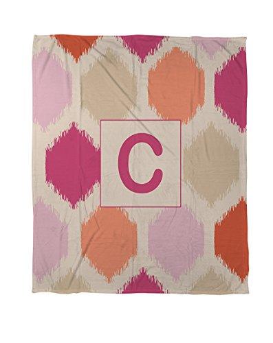 Manuelle holzverarbeiter & Weavers Bettbezug-, Monogramm Buchstabe C, Pink Batik -