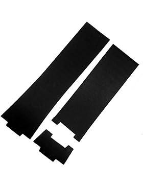 26mm schwarz Gummi Uhrenarmband Band kompatibel mit Ulysse Nardin 353–68le-3