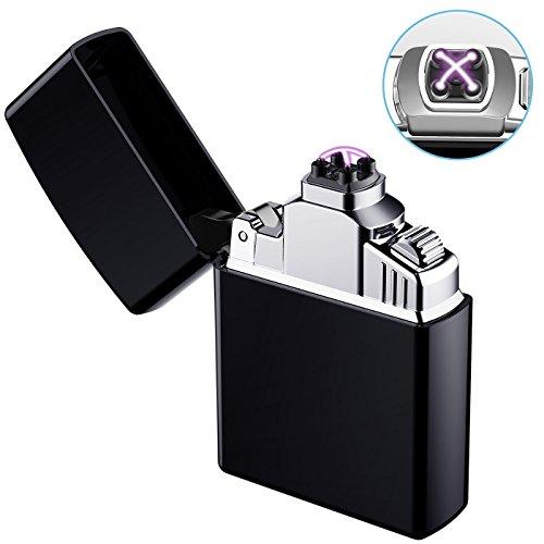 Elektronisches Feuerzeug, AngLink USB Elektro-Feuerzeug Dual Lichtbogen, Aufladbar Winddicht f&uumlr K&uumlche, Grill, Kerzen, Zigaretten, lange Lebensdauer