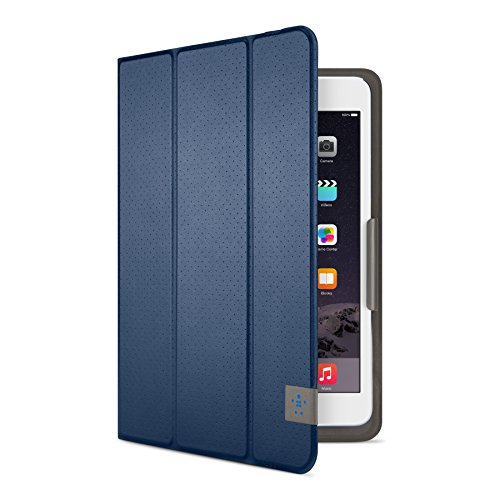 Belkin Universal Trifold Schutzhülle (für Tablets, Apple iPad mini 1-4, Samsung Galaxy Tab A (8 Zoll), Samsung Galaxy Tab S2 (8 Zoll)) dunkelblau