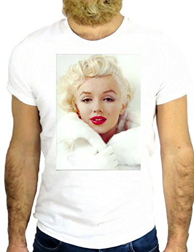 T SHIRT JODE Z2305 MARILYN BEAUTY LADY PIN UP CLASSY COOL FASHION NICE GGG24 BIANCA - WHITE