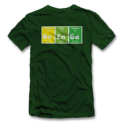 Bazinga Elements T-Shirt S-XXL 12 Farben / Colours Dunkel Grün