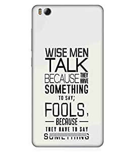 For Xiaomi Redmi 4A wise men talk ( good quotes, nice quotes, quotes, brown background, wise men talk ) Printed Designer Back Case Cover By Living Fill