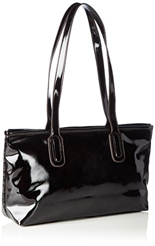 Tamaris Damen Zora Shoulder Bag Schultertaschen, 33x20x10 cm Schwarz (bordeaux 549)