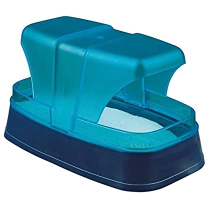 Trixie Sand Bath for Hamster and Mice, 17 x 10 x 10 cm, Dark Blue/Turquoise 1