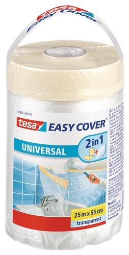 Tesa 210291 - Cinta y plástico protector universal, 25 m x 550 mm
