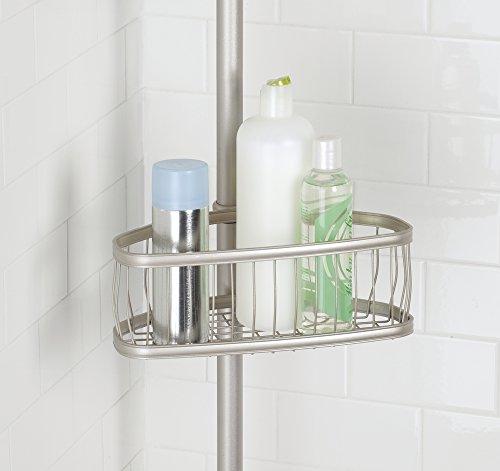 Mdesign asta telescopica doccia con cestelli portaoggetti doccia senza forare il muro - Accessori doccia portaoggetti ...
