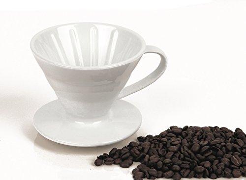 Permanent Kaffeefilter Kaffeefilterhalter Tassenfilter Porzellan Gr.1 mit 1 Austrittloch...