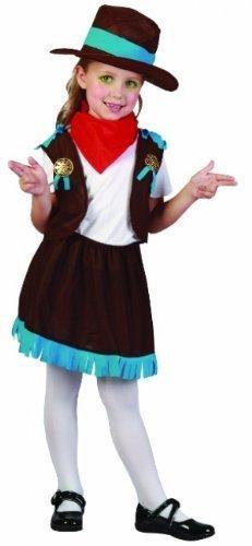 Mädchen Wear Kleinkind Western Für (Sofias Schrank Mädchen Kleinkinder Kostüm Kinder Cowgirl Kostüm Western Wild Rodeo Cowboy Hut)