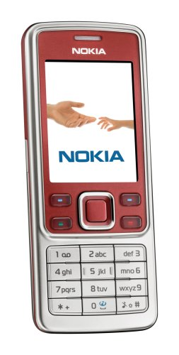 Nokia 6300 red (EDGE, Bluetooth, Kamera mit 2 MP, Musik-Player, Stereo-UKW-Radio, Organizer) Handy