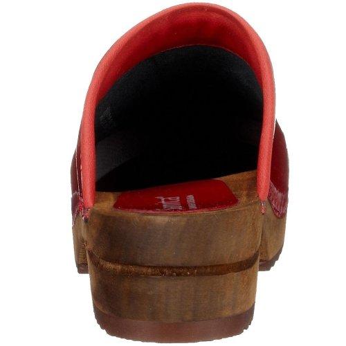Sanita Classic Patent open, Damen Clogs Rot (red 4)