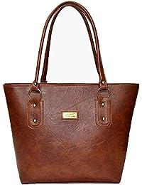 Pynk Fashion Leather Women's Handbag - Tan