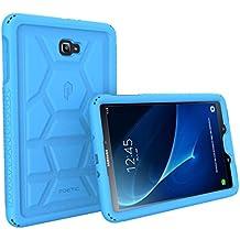 Poetic TurtleSkin Heavy Duty Protección Silicona Funda con Amplificación de Sonido Función para Samsung Galaxy Tab A 10.1 (2016) Azul [NO COMPATIBLE CON EL MODELO S-PEN.]
