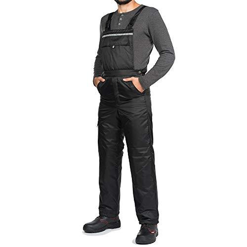 Salopette da Lavoro Uomo Inverno Pantaloni da Lavoro Inverno Impermeabile A Prova di Vento Nero Caldo Bande Riflettenti
