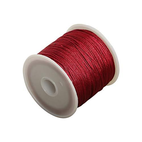 Da.Wa 1x Rojo Cuerda Cuero Pulsera Collar Fabricación