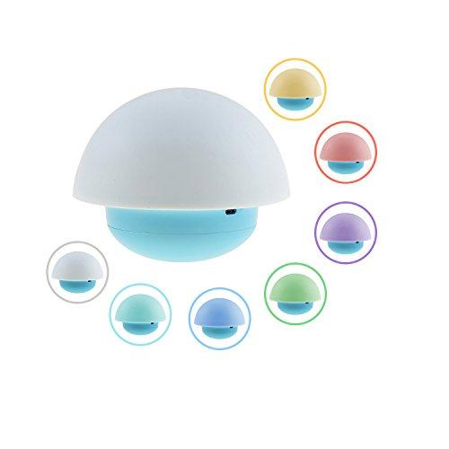 Spring Seta Diseño Noche del vaso 7 de luz LED que cambia de color luces nocturnas de la habitación del bebé Dormitorio cría en el exterior
